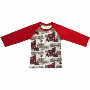 Vintage Truck Christmas Raglan • PREORDER CLOSES SATURDAY, SEPT. 15