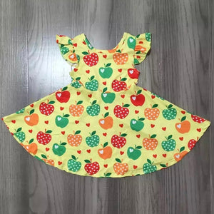 2T-8/9 • Lovely Little Apples Flutter Dress
