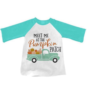 Aqua • Meet Me at the Pumpkin Patch Raglan • PREORDER CLOSES TUESDAY, JULY 2
