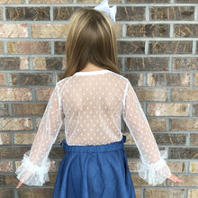2T-8/9 • Brand Inspired • White Lace Ruffle Sleeve Layering Top 💜Big Sister