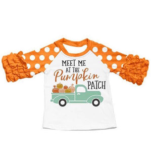 Orange • Meet Me at the Pumpkin Patch Ruffle Raglan • PREORDER CLOSES TUESDAY, JULY 2