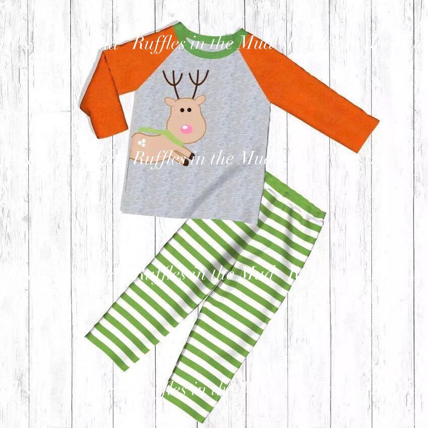 Lil Flying Reindeer Upscale Pants Set • PREORDER CLOSES SATURDAY, AUG 3