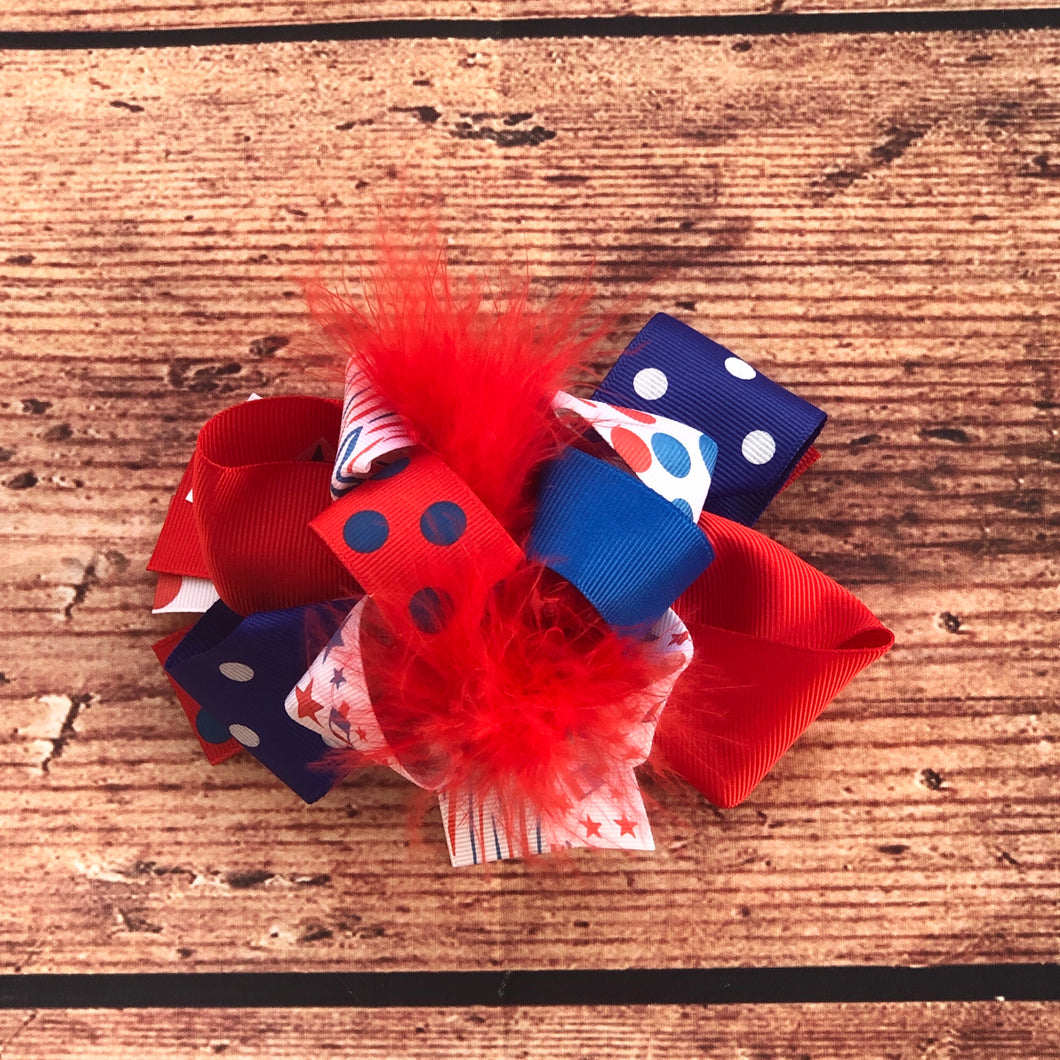 "5"" • Patriotic Loop Hair Bow"