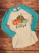 S, L, XL • It's Fall Y'all Aqua Blue Raglan