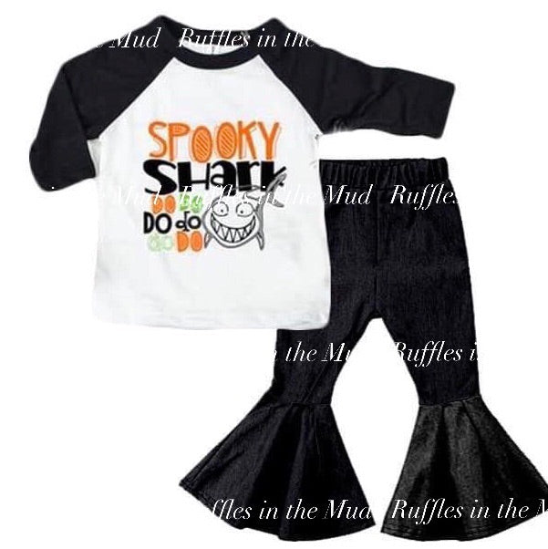 Spooky Shark Bell Pants Set • PREORDER CLOSES SUNDAY, JULY 28