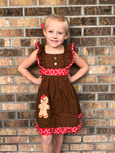 3T • Gingerbread Flutter Sleeve Boutique Dress