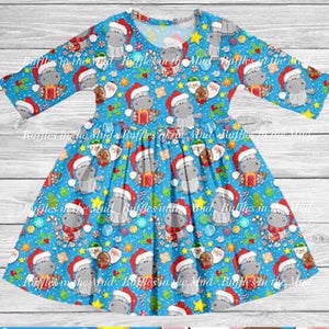 Hippopotamus for Christmas Twirly Dress • PREORDER CLOSES FRIDAY, SEPT. 6
