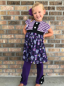 4T-6/7 • Disney Villainess Tunic with Ruffle Button Pants