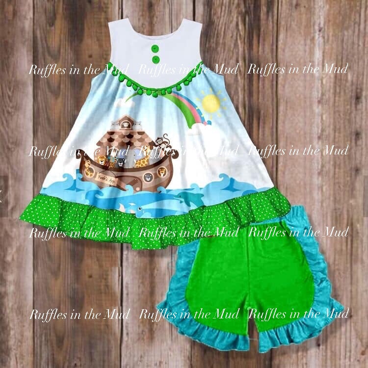 Noah's Ark Shorts Set • PREORDER CLOSES TUESDAY, APRIL 23