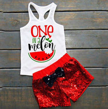 One in a Melon Sequin Shorts Set • PREORDER