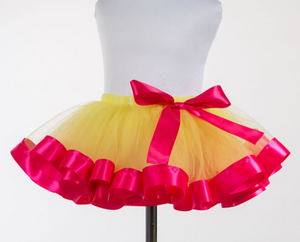 Yellow Tutu with Pink Trim