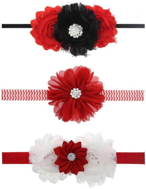 Mixed Rosette Baby Headbands