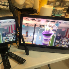 video monitors for puppetry