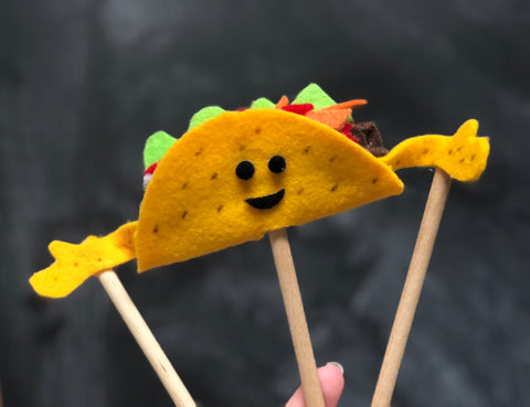small taco rod puppet