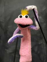 Pink Sock Puppet with Yellow Hair