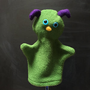 Green Bug Monster Glove Puppet