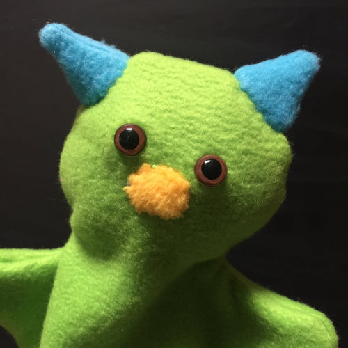 Light Green Monster Glove Puppet