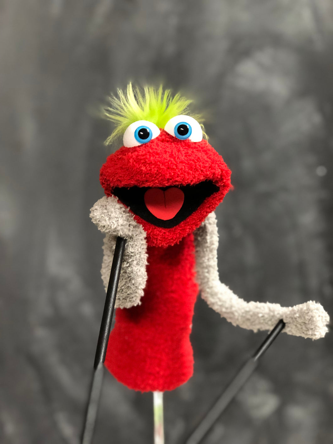 Red sock puppet