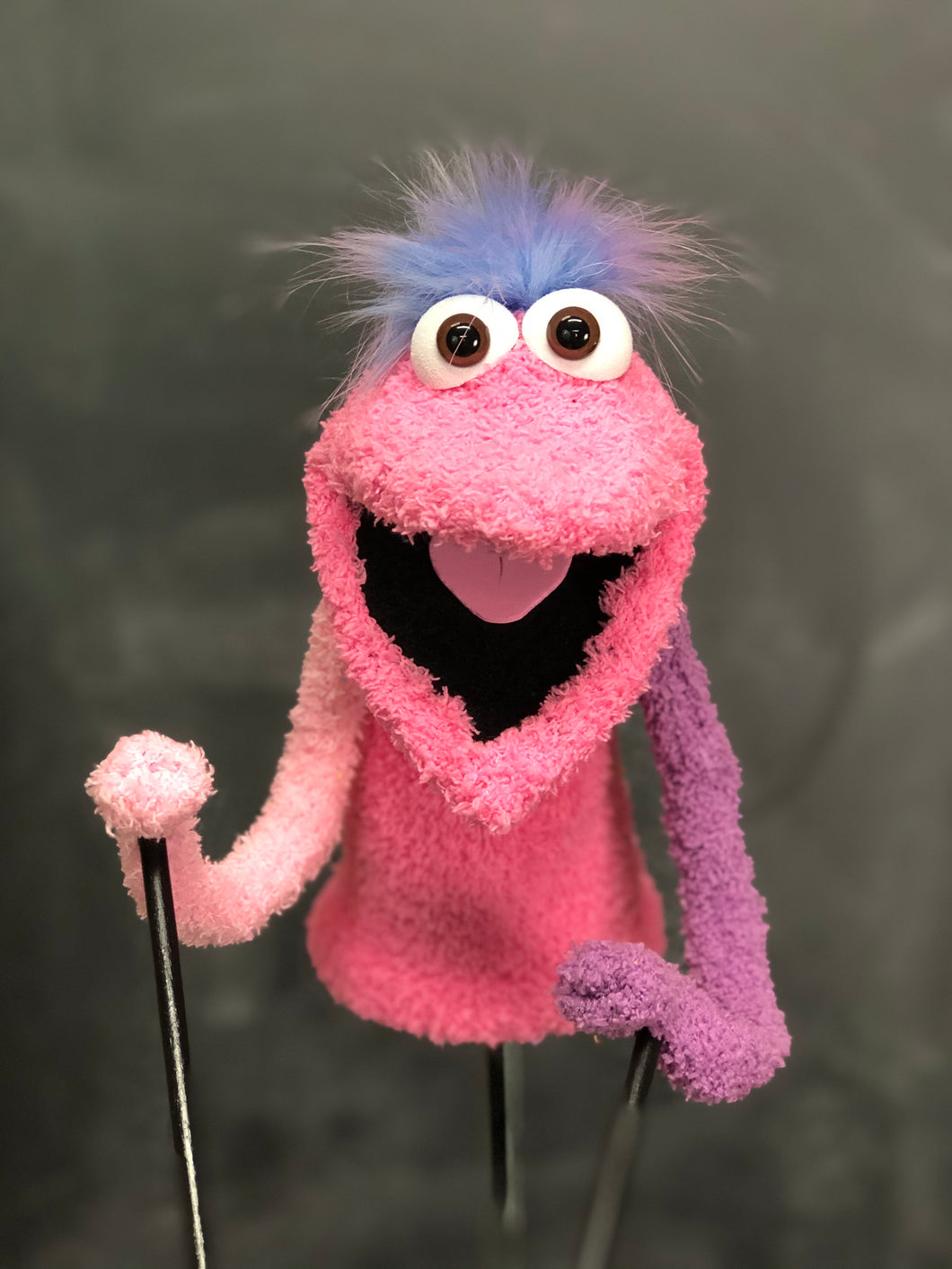 Pink and Purple Pre Pro Puppet