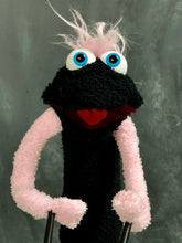 Black sock puppet