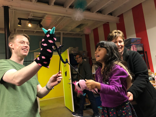First Friday Puppet Jam  Friday, March 6th, 6:30pm-10pm