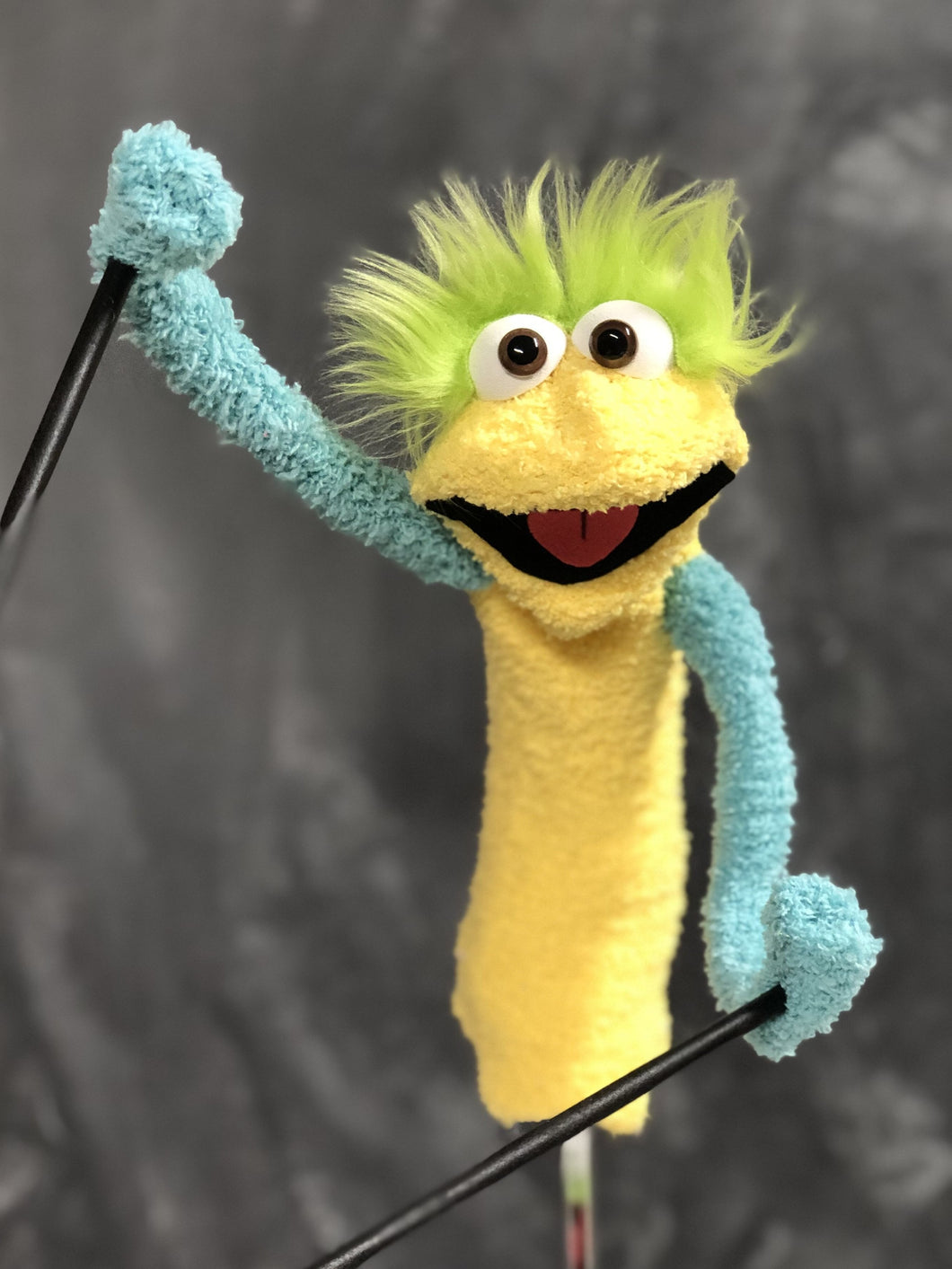 Yellow sock puppet