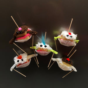 Cake Sample Monster Puppet Magnet