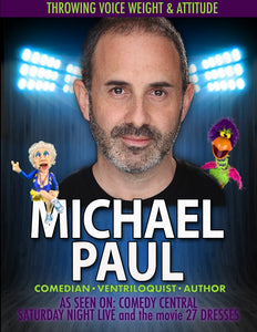 Guest Artist Michael Paul - Character Development and Writing Workshop Feb 24, 2018 11am-2pm