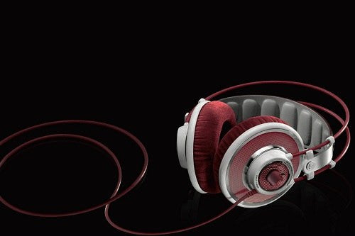 Red And Silver Full Size Headphones