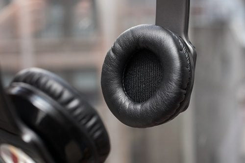 Black Leather Ear Cushions