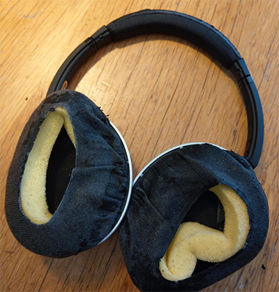Worn out bose qc15 ear pads