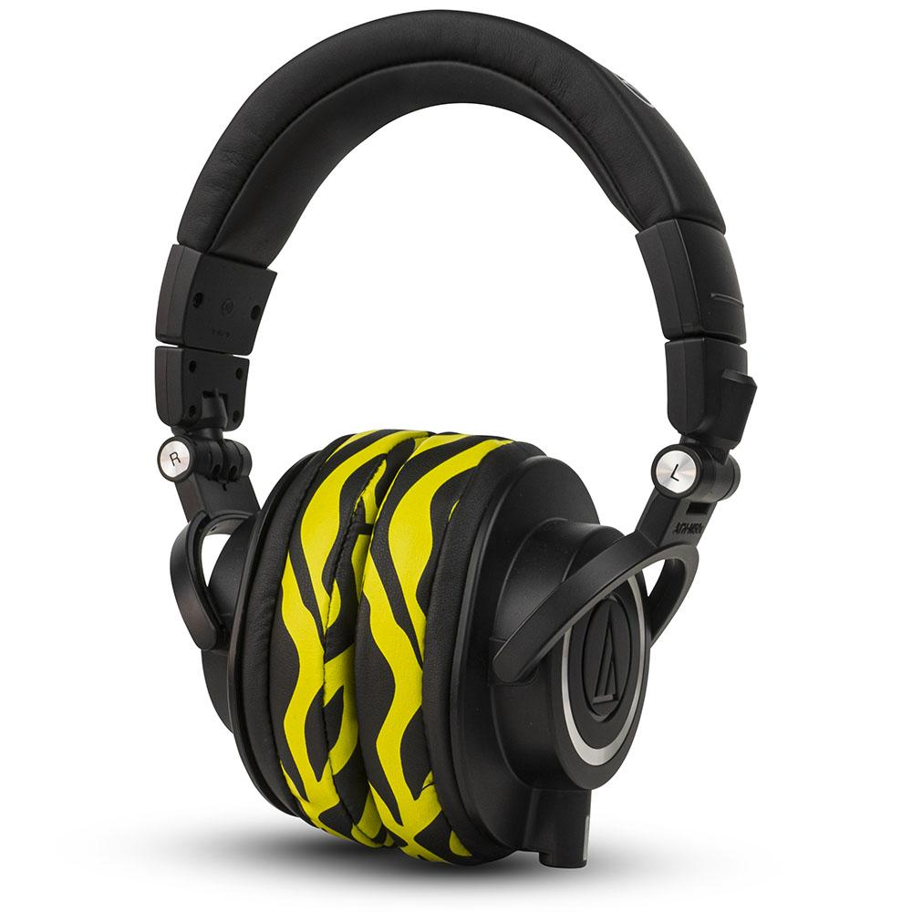 ATH M50X Earpads | Yellow Tiger