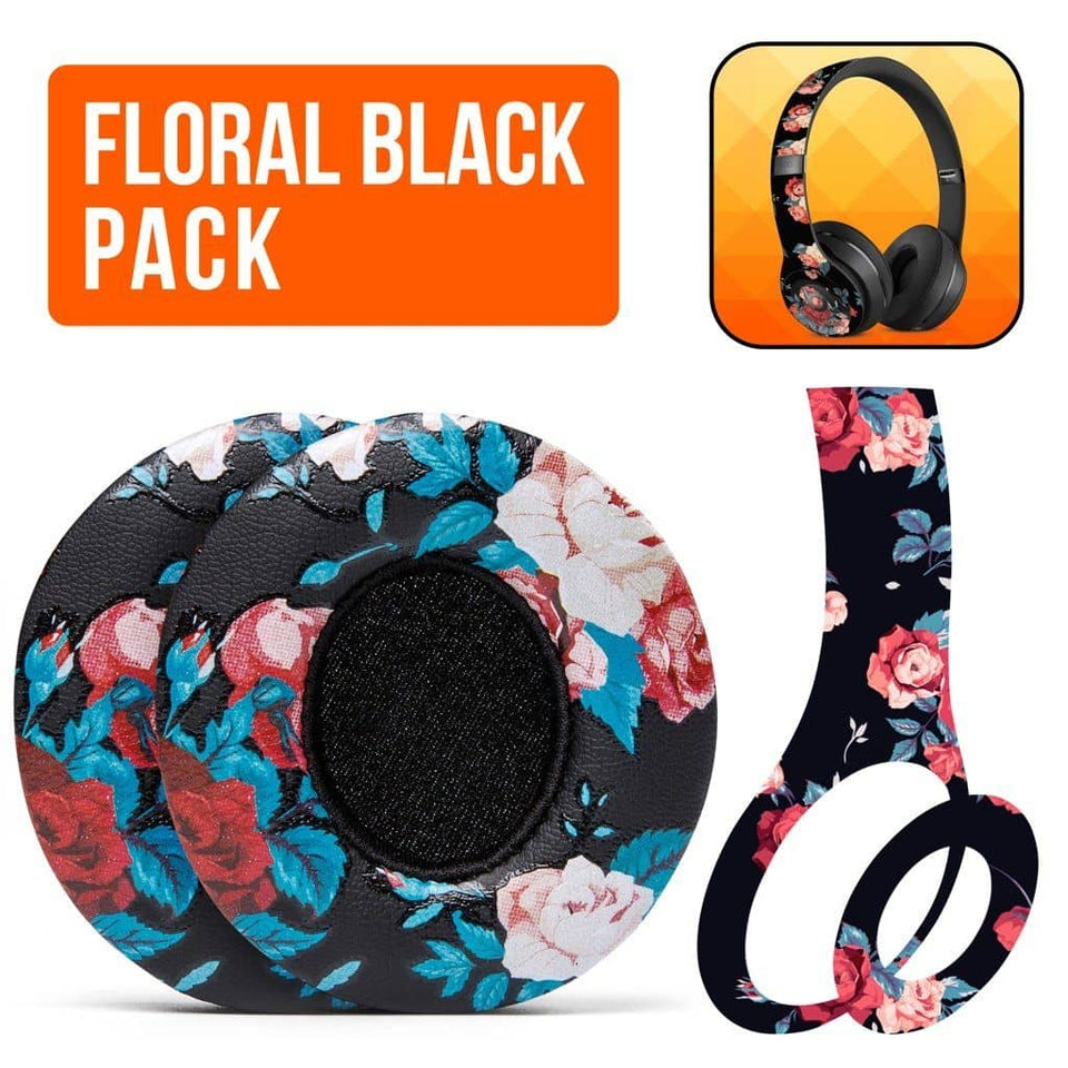 Beats Solo Black Floral - The Full Package - Wicked Cushions