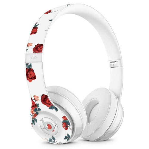 Beats Solo Skin - White Floral - Wicked Cushions