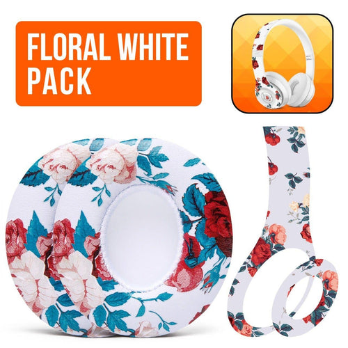 Beats Solo White Floral - The Full Package - Wicked Cushions