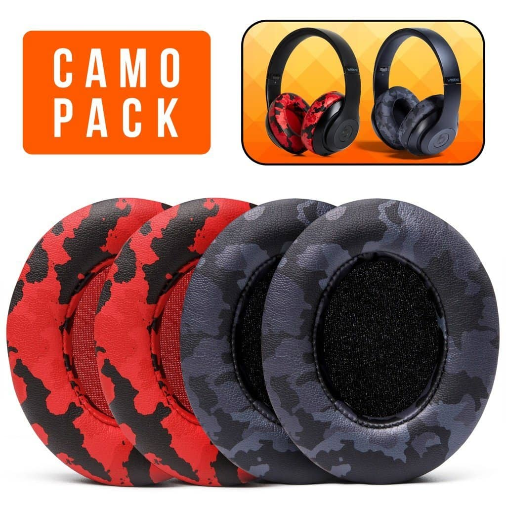 Beats Studio Earpads - Black & Red Camo Pack - Wicked Cushions