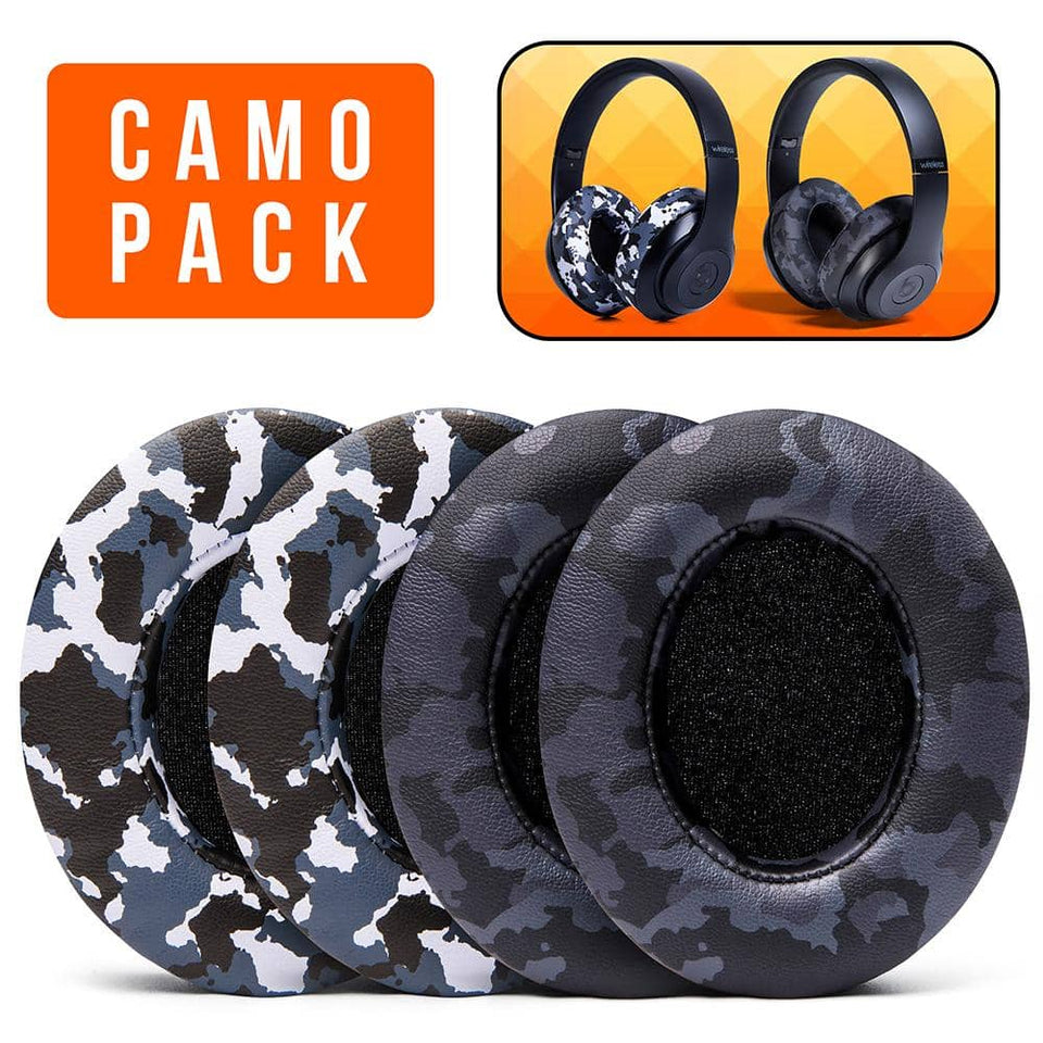 Beats Studio Earpads - Black & Snow Camo Pack - Wicked Cushions