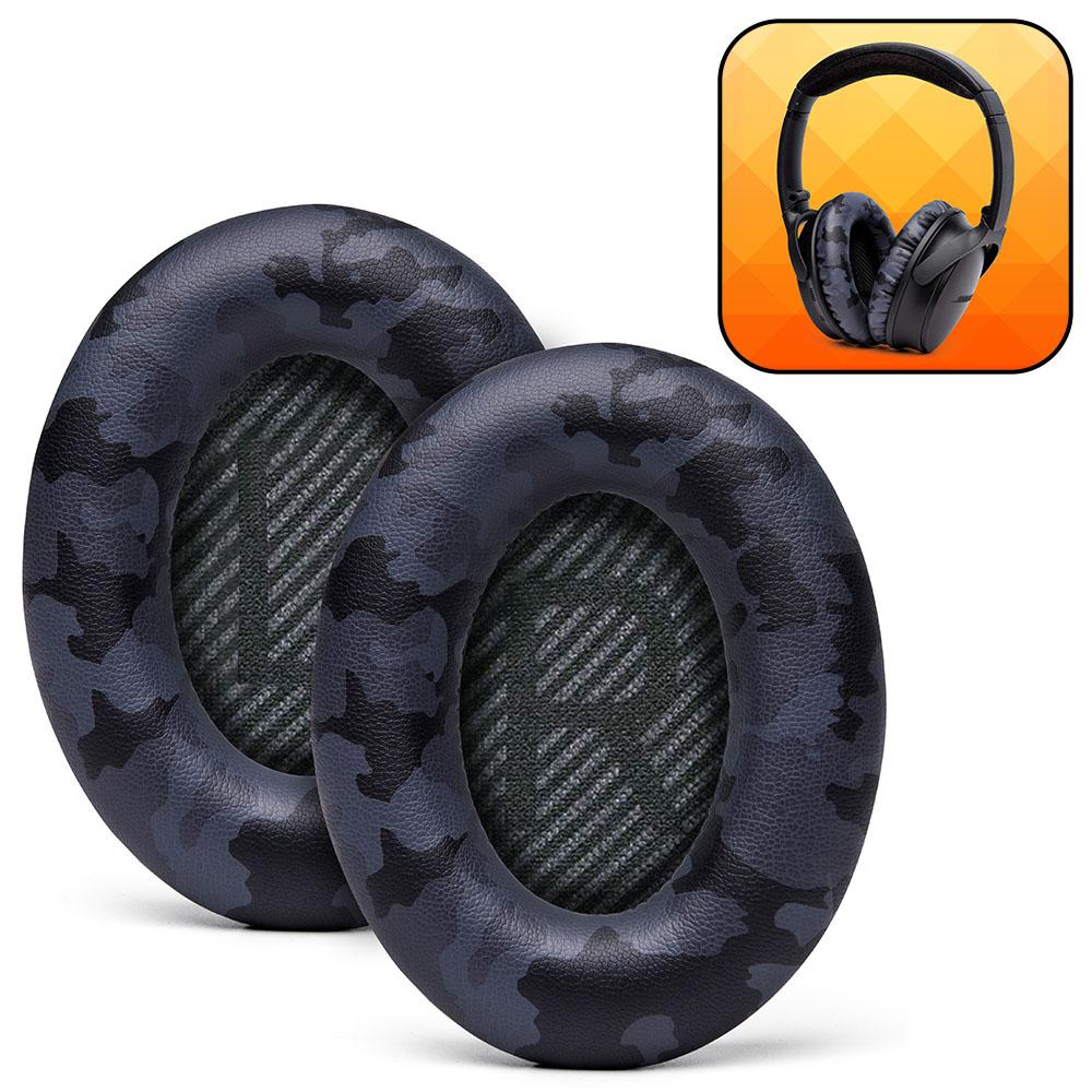 Replacement Ear Pads For Bose QC35 | Black Camo