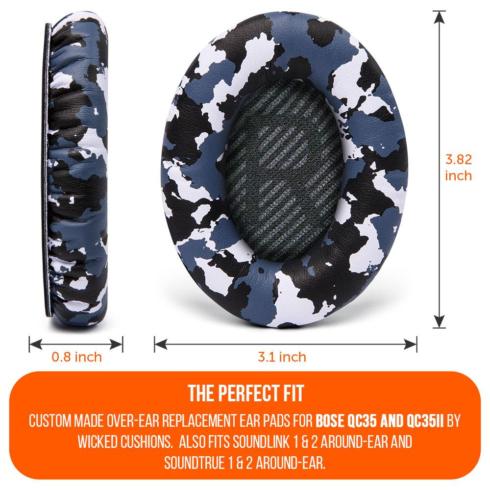 Replacement Ear Pads For Bose QC35 | Snow Camo