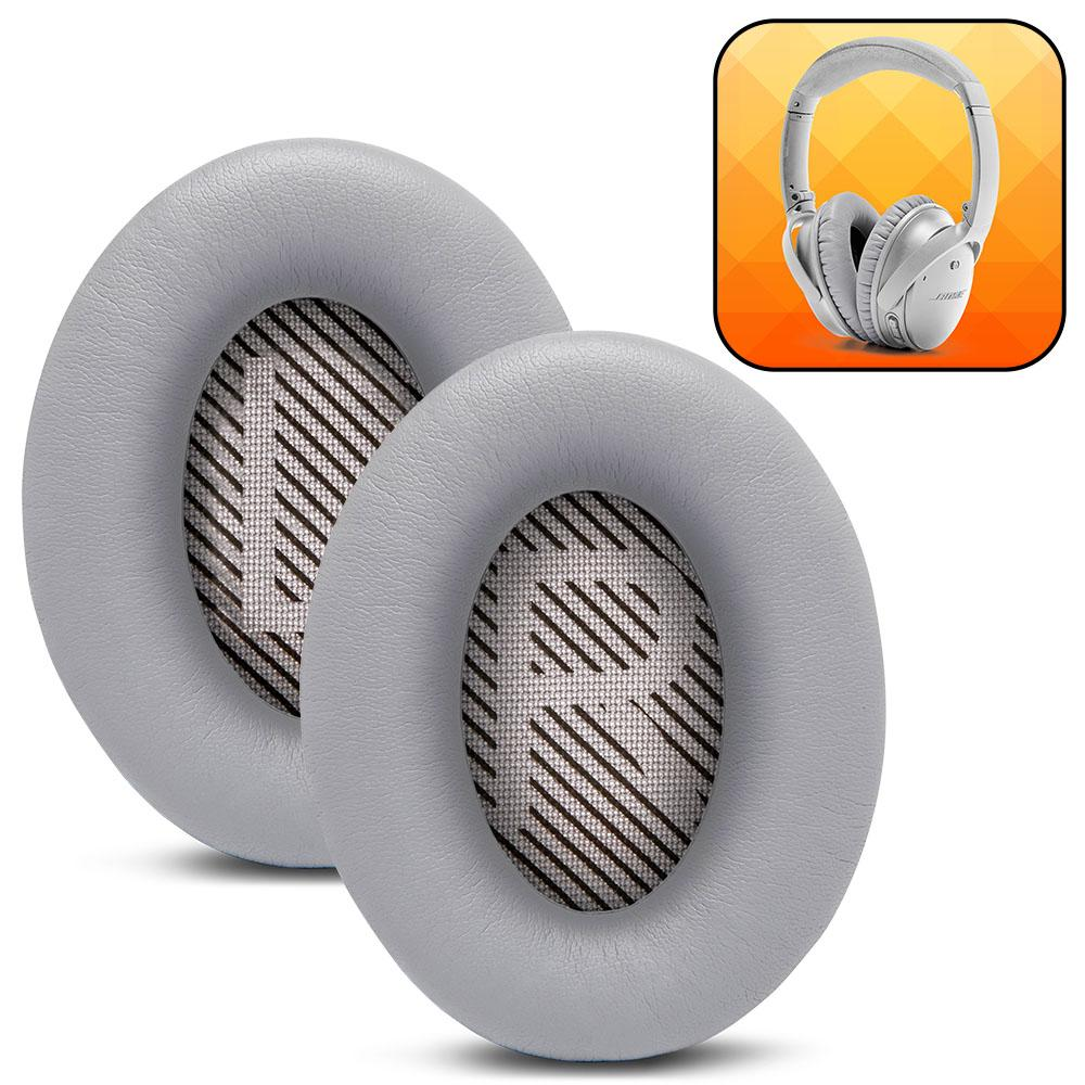Replacement Ear Pads For Bose QC35 | Silver