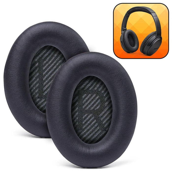Replacement Ear Pads For Bose QC35 - Black - Wicked Cushions
