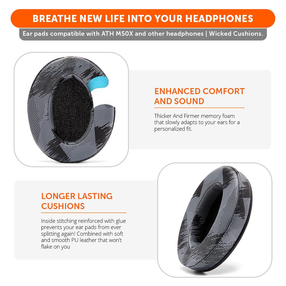 Upgraded Gaming Earpads | Anthracite