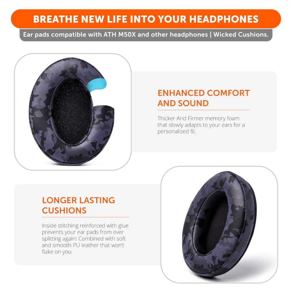 Upgraded Gaming Earpads | Black Camo