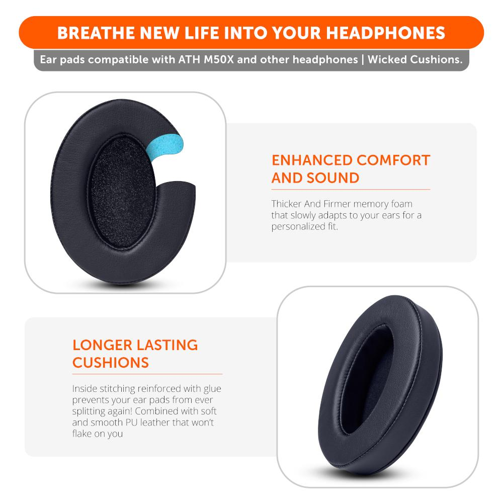 Upgraded Gaming Earpads | Black