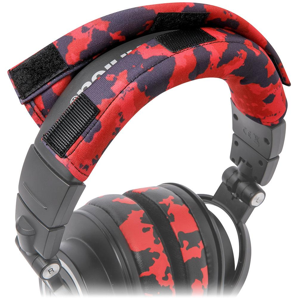 WC BandZ Protective Headband Cover For ATH M Series Headphones | Red Camo