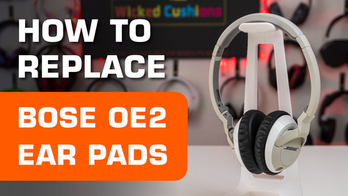 How to replace Bose OE2 Ear pads