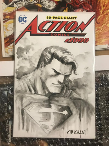 BLANK COVER SUPERMAN COMMISSION BY TYLOR KIRKHAM