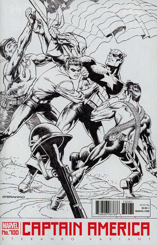 【大陆现货】Captain America Vol 8 #700 Jim Steranko Black & White Cover