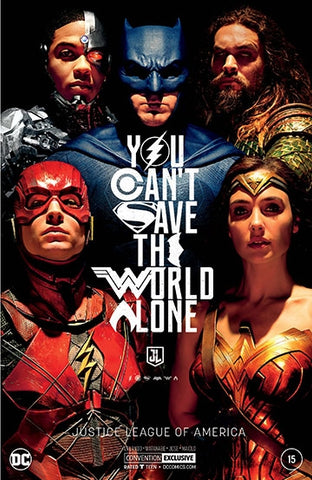 JUSTICE LEAGUE OF AMERICA #15 NYCC SILVER FOIL MOVIE VARIANT 2017