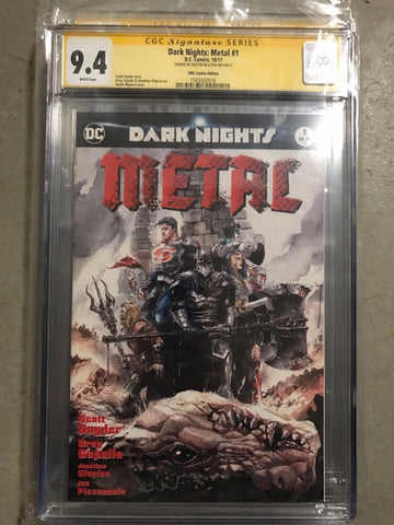 CGC 9.4 DARK NIGHTS METAL #1 ZMX COMICS DUSTIN NGUYEN EXCLUSIVE COLOR VARIANT  (SIGNED)